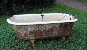 Чугунная ванна на лом